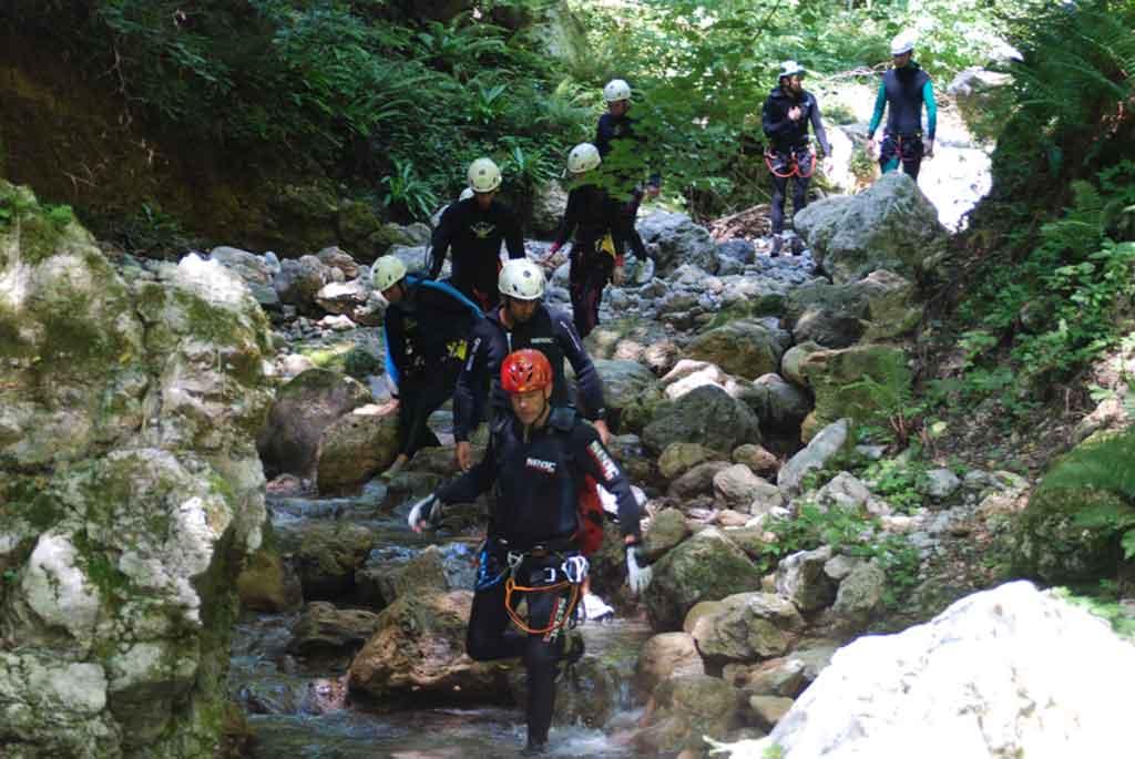 Canyoning Garfagnana Tuscany Italy