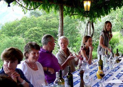 Dinner Lavacchio Tuscany Italy