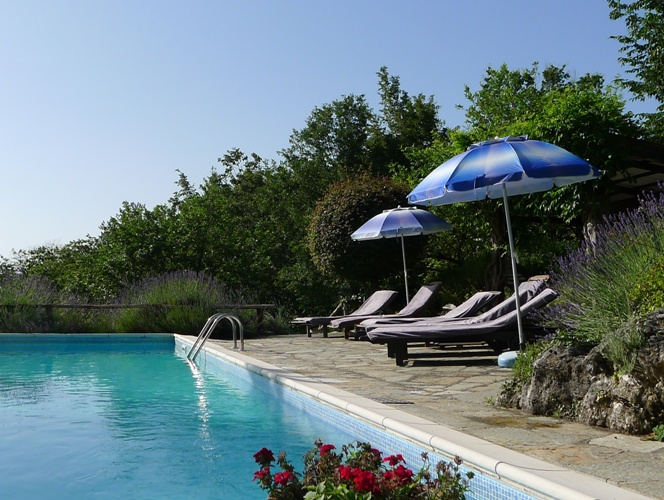 saltwater pool at Col di Lavacchio Italy Tuscany