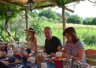 Breakfast Col di Lavacchio Tuscany Italy