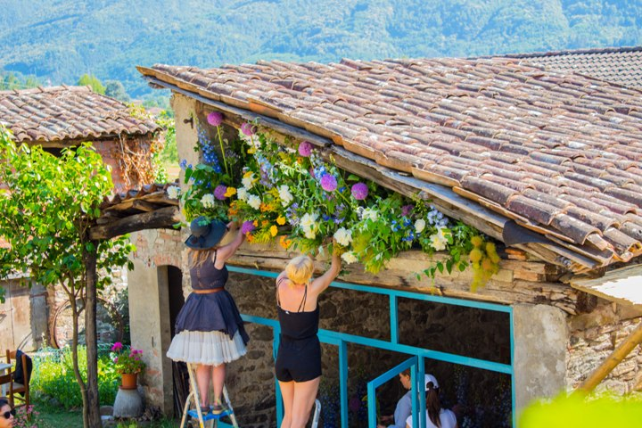 Special event decorations in Tuscany, Italy