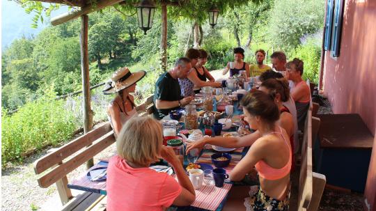 dining Fattoria tuscany italy
