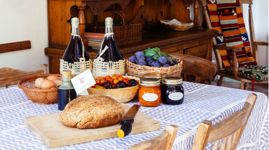 Home made produce Col di Lavacchio Tuscany Italy