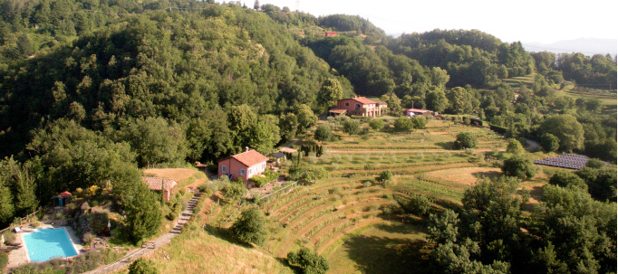 two holiday houses with pool at col di lavacchio tuscany italy
